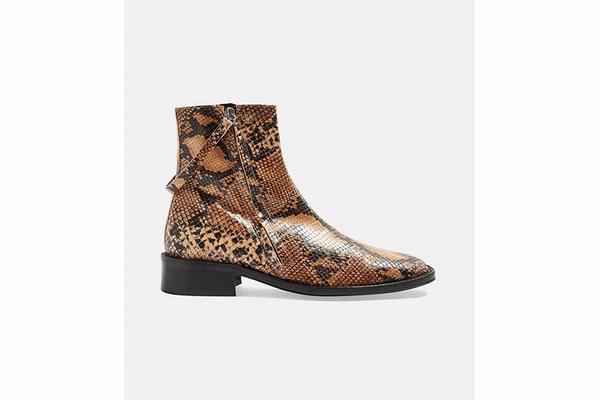 Topshop蛇纹裸靴 官网有售  图片源自品牌