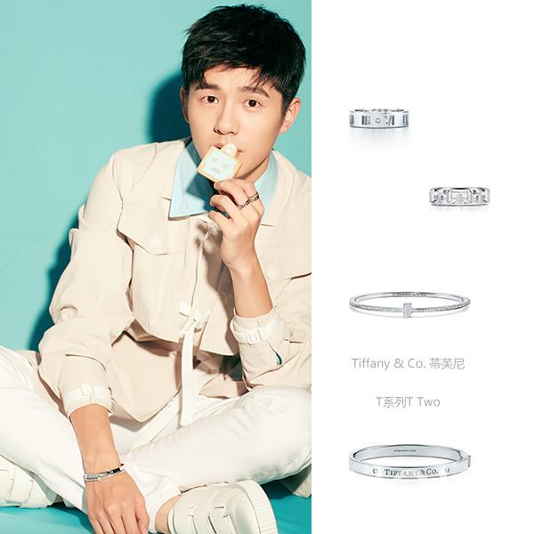刘昊然粉色系服装发配珠宝(图片来自于Tiffany品牌)