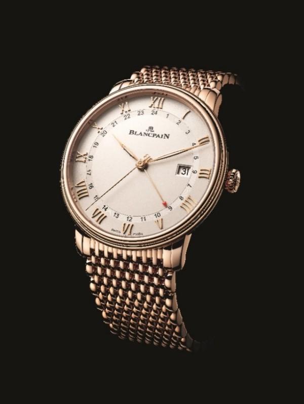 宝珀Blancpain Villeret经典系列两地时日期显示腕表