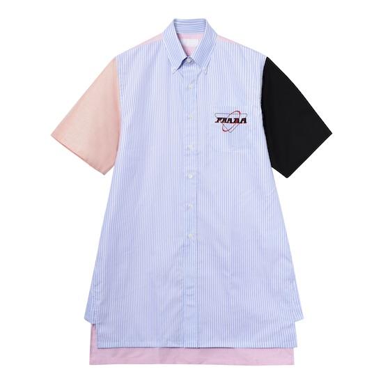 Prada 牛津布拼色衬衫