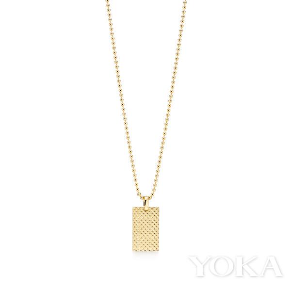 单品推荐:Tiffany & Co.Diamond Point 系列18K 黄金矩形吊坠(图片来源于品牌)