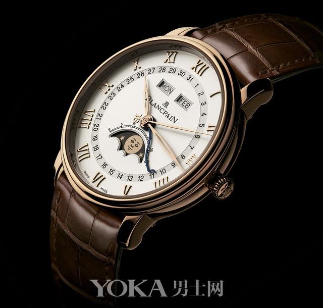 宝珀Villeret系列全历月相腕表