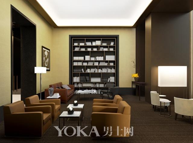上海宝格丽公寓图书馆休息室