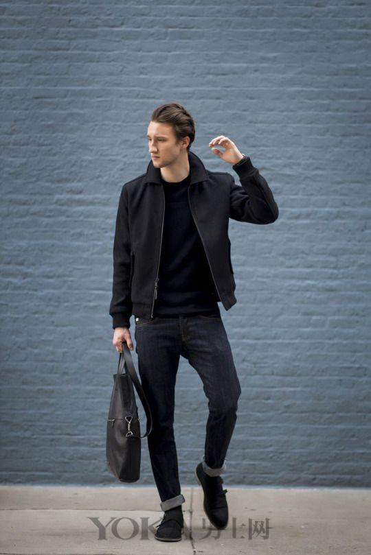 黑色系搭配的N种style 一起将帅酷有型进行到底